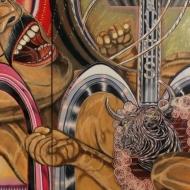 "Gabriel Villa ""Tantrum_2"" Oil on canvas 115 X 62 in. 2016"